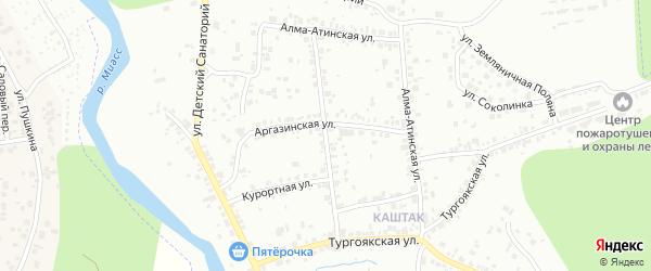 Алма-Атинский переулок на карте Челябинска с номерами домов