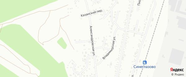 Александровская улица на карте Челябинска с номерами домов