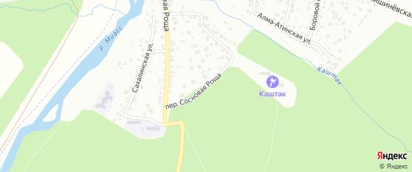Переулок Сосновая Роща на карте Челябинска с номерами домов