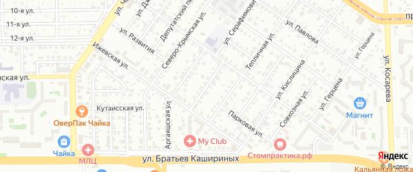 Нязепетровская улица на карте Челябинска с номерами домов