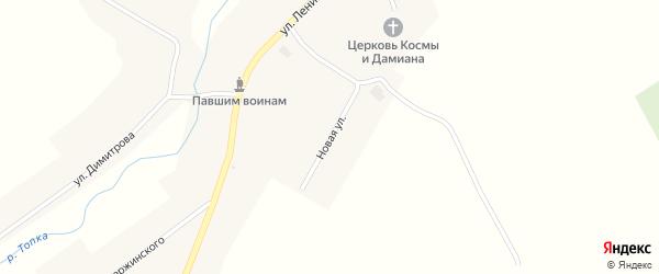 Новая улица на карте села Юшково с номерами домов