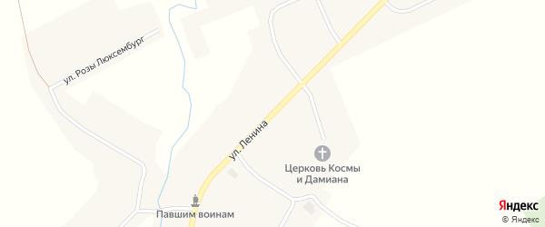 Улица Ленина на карте села Юшково с номерами домов