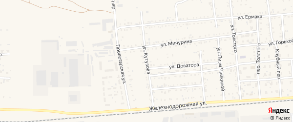 Улица Кутузова на карте Коркино с номерами домов