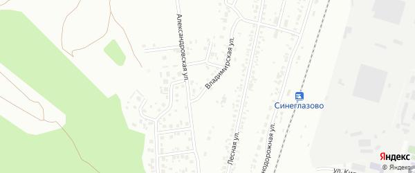 Владимирская улица на карте Челябинска с номерами домов