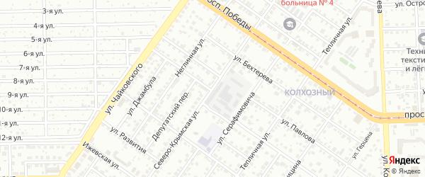 Северо-Крымская улица на карте Челябинска с номерами домов
