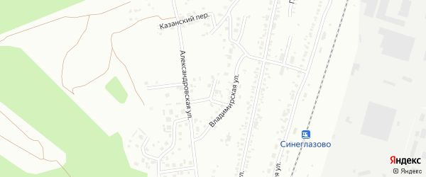 Владимирский переулок на карте Челябинска с номерами домов