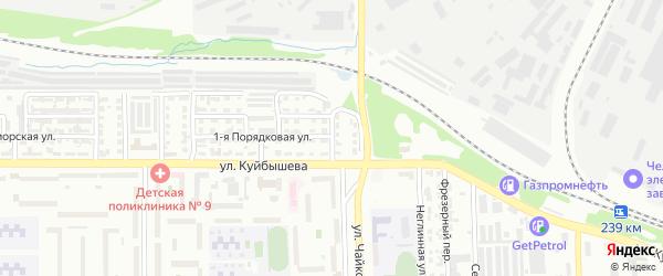 Рощинская улица на карте Челябинска с номерами домов
