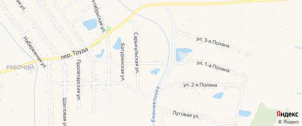 Сарыкульский переулок на карте Еманжелинска с номерами домов