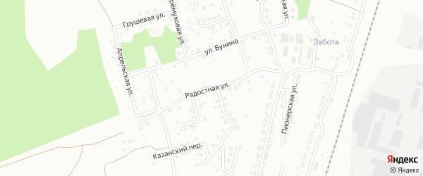 Радостная улица на карте Челябинска с номерами домов