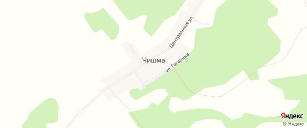 Карта деревни Чишмы в Челябинской области с улицами и номерами домов
