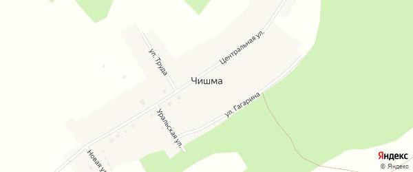 Улица Труда на карте деревни Чишмы с номерами домов