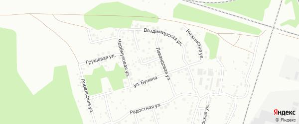 Лучистая улица на карте Челябинска с номерами домов