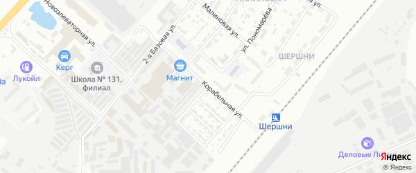 Корабельная улица на карте Челябинска с номерами домов