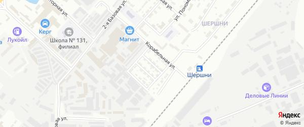 Корабельный 2-й переулок на карте Челябинска с номерами домов