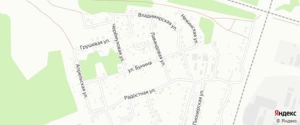 Улица Бунина на карте Челябинска с номерами домов