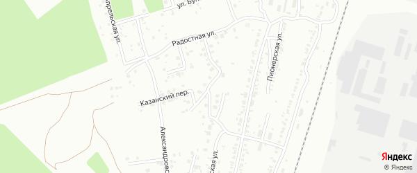 Благодатная улица на карте Челябинска с номерами домов