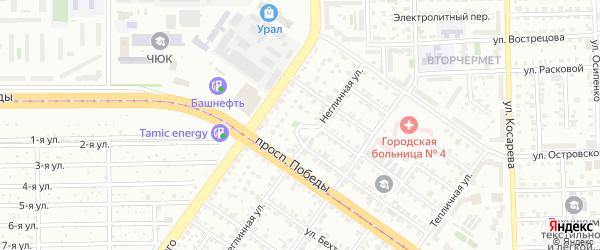 Неглинная улица на карте Челябинска с номерами домов