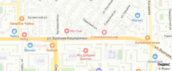 Партизанская улица на карте Челябинска с номерами домов