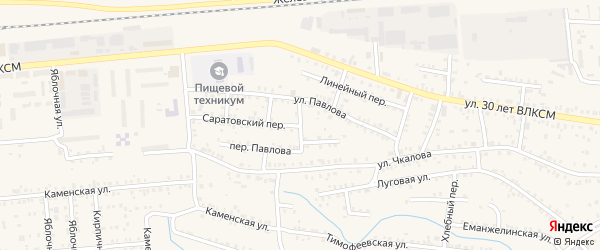 Орский переулок на карте Коркино с номерами домов