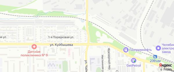 Спасская улица на карте Челябинска с номерами домов