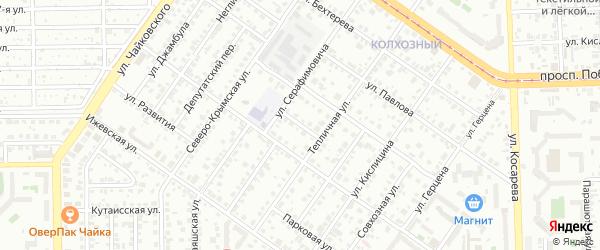 Малый переулок на карте Челябинска с номерами домов