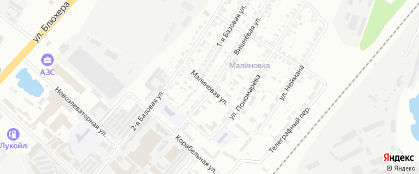 Малиновая улица на карте Челябинска с номерами домов