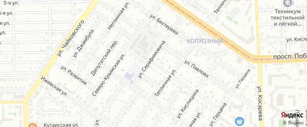 Стартовая улица на карте Челябинска с номерами домов