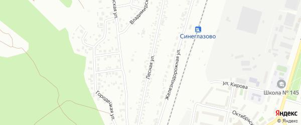 Улица Лесная (Новосинеглазово) на карте Челябинска с номерами домов
