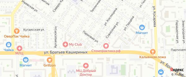 Улица Парковая(Колхозный) на карте Челябинска с номерами домов