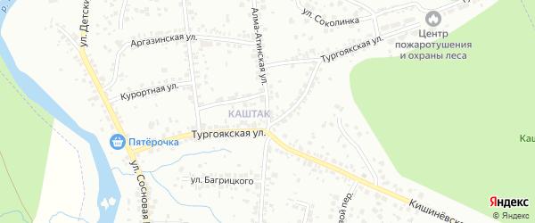 Алма-Атинская улица на карте Челябинска с номерами домов