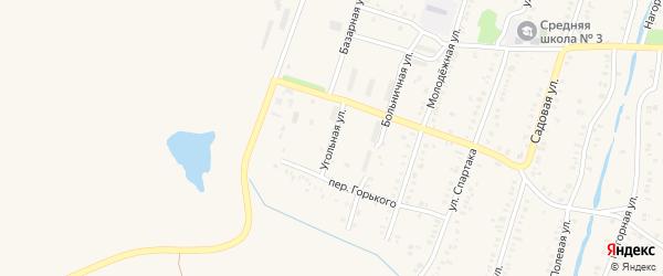 Угольная улица на карте Еманжелинска с номерами домов
