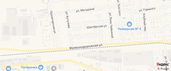 Железнодорожный переулок на карте поселка Саксана разъезда с номерами домов