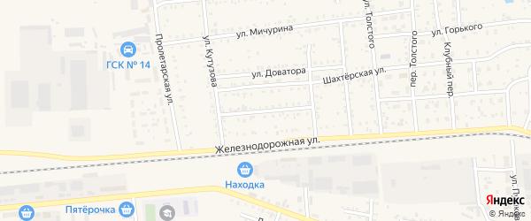 Железнодорожный переулок на карте Коркино с номерами домов