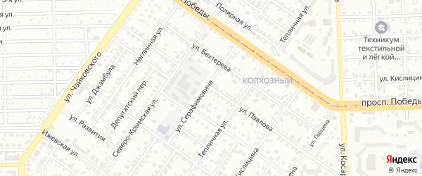 Улица Павлова на карте Челябинска с номерами домов