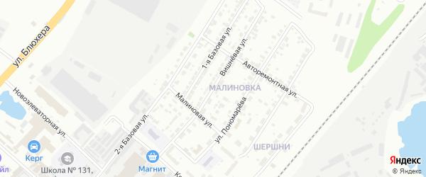 Вишневая улица на карте Челябинска с номерами домов