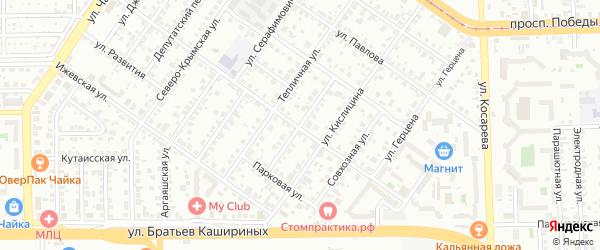 Сельскохозяйственная улица на карте Челябинска с номерами домов
