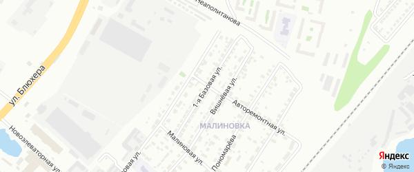 Базовая 1-я улица на карте Челябинска с номерами домов