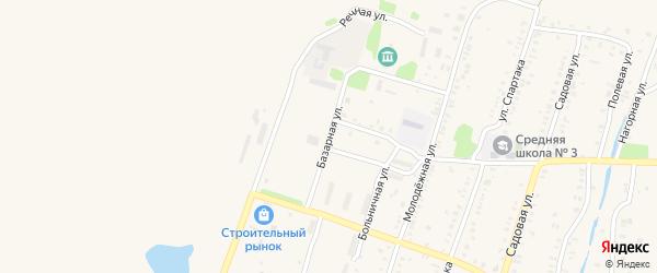Базарная улица на карте Еманжелинска с номерами домов