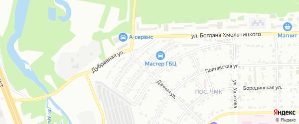Балканская улица на карте Челябинска с номерами домов
