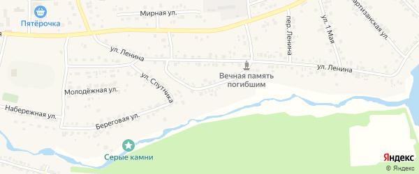 Красноармейская улица на карте деревни Шигаево с номерами домов