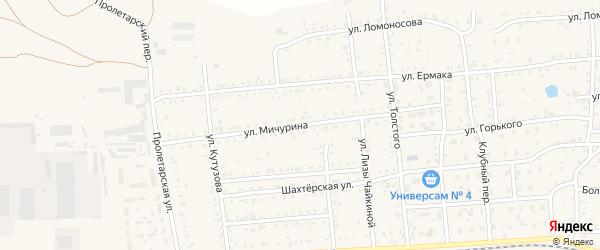 Улица Мичурина на карте Коркино с номерами домов