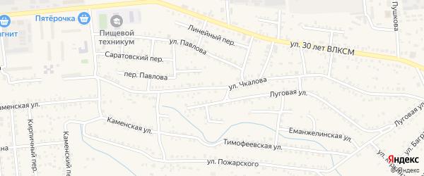 Улица Чкалова на карте Коркино с номерами домов