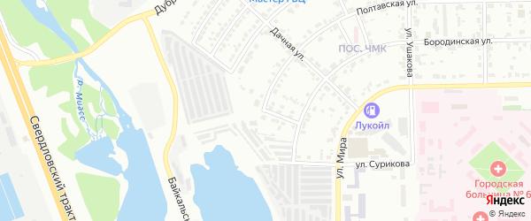 Улица Березовый Тупик на карте Челябинска с номерами домов