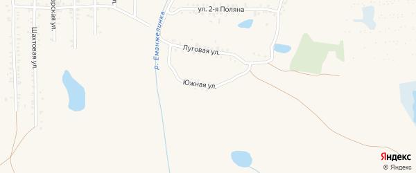Южная улица на карте Еманжелинска с номерами домов