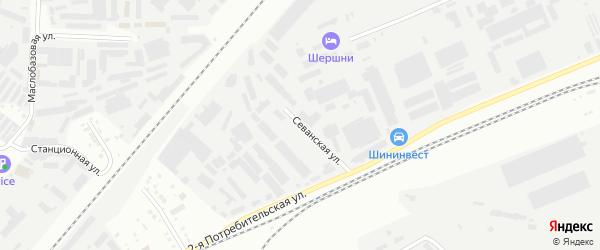 Севанская улица на карте Челябинска с номерами домов