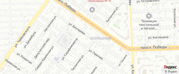 Улица Бехтерева на карте Челябинска с номерами домов