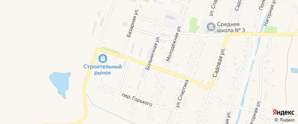 Больничная улица на карте Еманжелинска с номерами домов