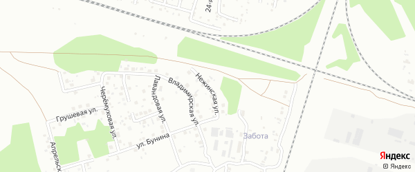 Нежинская улица на карте Челябинска с номерами домов