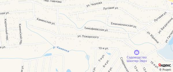 Улица Пожарского на карте Коркино с номерами домов