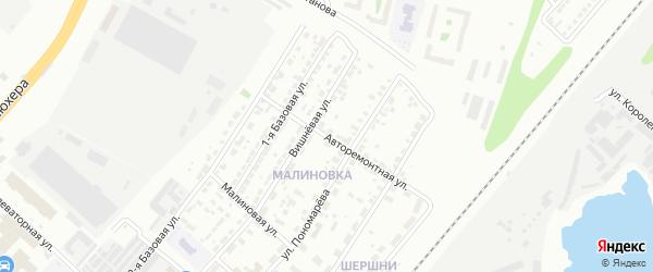 Авторемонтная улица на карте Челябинска с номерами домов
